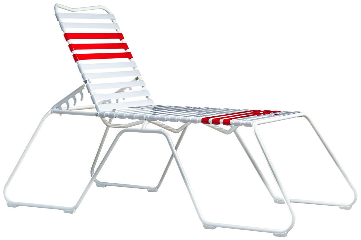 Red High Chaise Lounge Chair