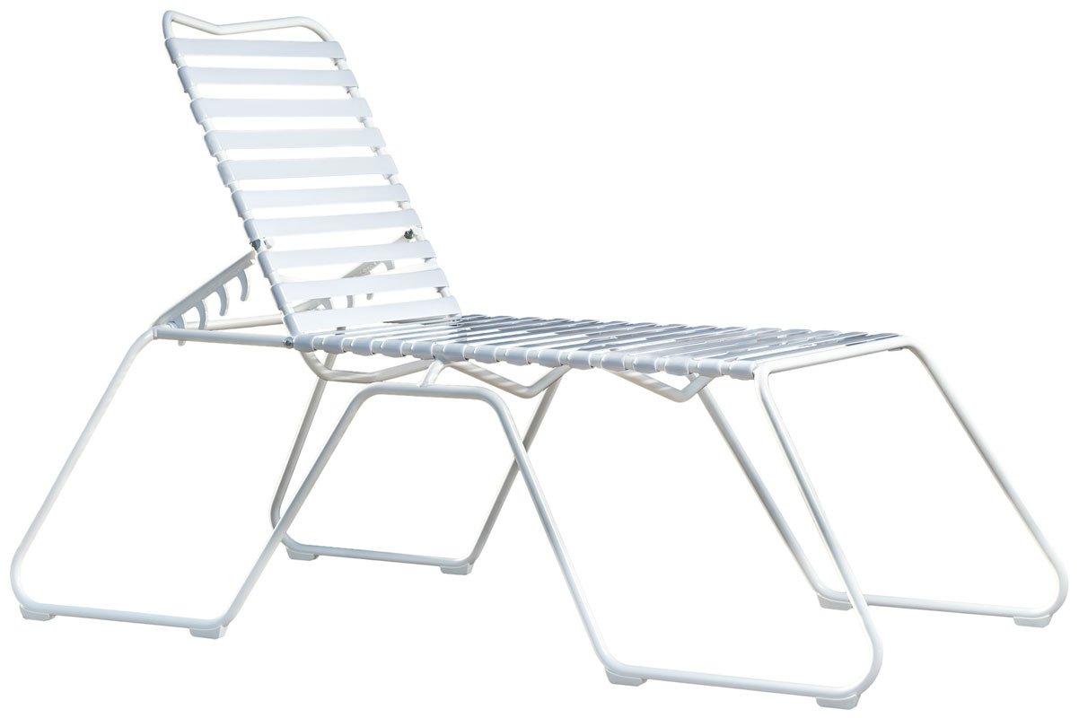 White High Chaise Lounge Chair